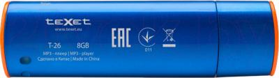 USB-плеер TeXet T-26 (8Gb, синий) - вид сзади
