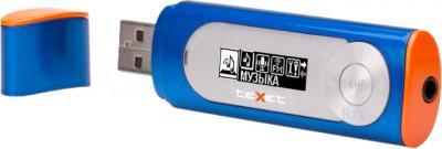 USB-плеер TeXet T-26 (8Gb, синий) - общий вид
