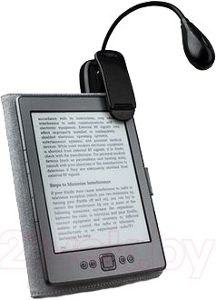 Подсветка для электронной книги Wexler Lamp WL001B - крепление на электронной книге