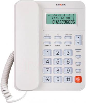 Проводной телефон TeXet TX-254 (серый) - общий вид