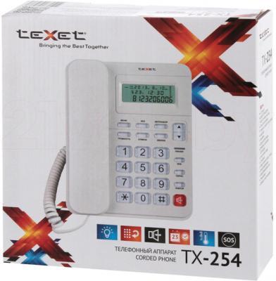 Проводной телефон TeXet TX-254 (серый) - упаковка