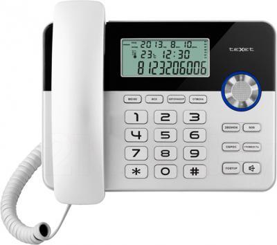 Проводной телефон TeXet TX-259 (Black-Silver) - общий вид