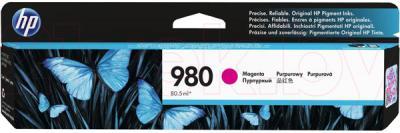 Картридж HP 980 Magenta Original Ink Cartridge (D8J08A) - общий вид