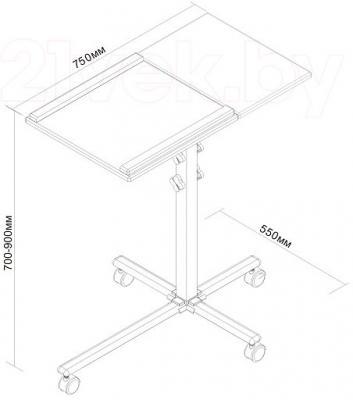 Стойка для проектра Classic Solution Classic PT-7 - габаритные размеры
