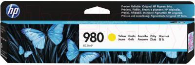 Тонер-картридж HP 980 Yellow Original Ink Cartridge (D8J09A) - общий вид