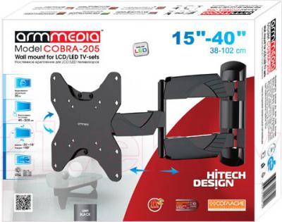 Кронштейн для телевизора Arm Media Cobra-205 (Black) - упаковка