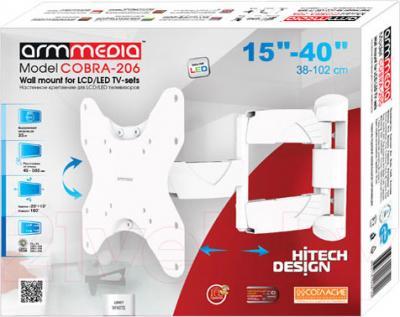 Кронштейн для телевизора Arm Media Cobra-206 (White) - упаковка