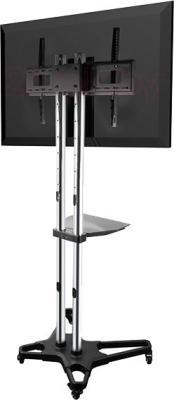 Стойка для ТВ/аппаратуры Arm Media PT-STAND-1 (серебристый) - вид сзади
