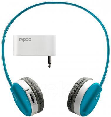 Наушники-гарнитура Rapoo H3070 (синий) - радиопередатчик в комплекте