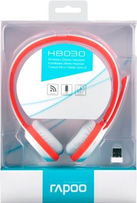 Наушники-гарнитура Rapoo H8030 (красный) - в упаковке