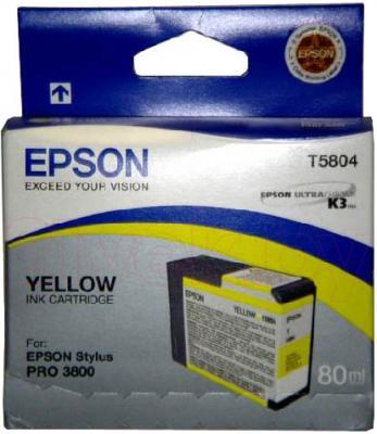 Картридж Epson C13T580400 - общий вид