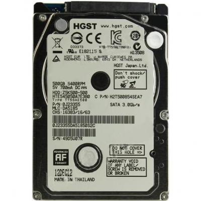 Жесткий диск Hitachi Travelstar Z5K500 500GB (HTE545050A7E380) - общий вид