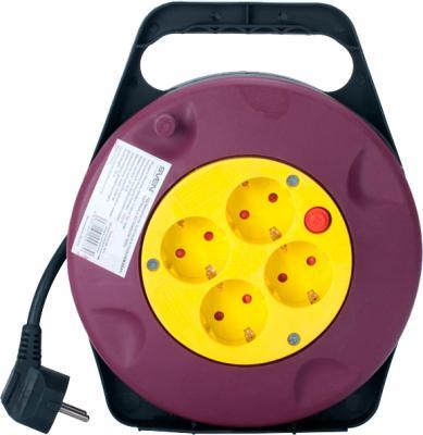 Удлинитель на катушке Sven Trident 3G-15m (Black-Red-Yellow) - общий вид