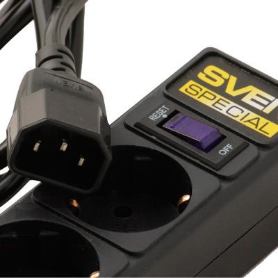 Сетевой фильтр Sven Surge Protector Special 1.8 (черный, 5 розеток) - разъем