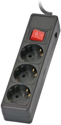 Сетевой фильтр Sven Surge Protector Optima Base 3.0 (черный, 3 розетки) - общий вид
