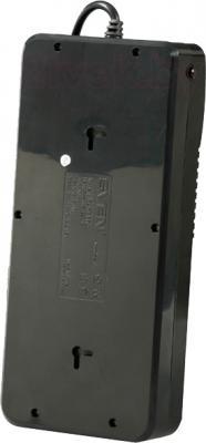 Сетевой фильтр Sven Surge Protector Fort Pro 5.0 (черный, 6 розеток) - вид сзади