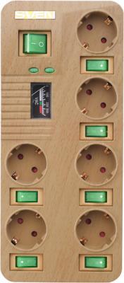 Сетевой фильтр Sven Surge Protector Fort Pro 1.8 (дерево, 6 розеток) - общий вид