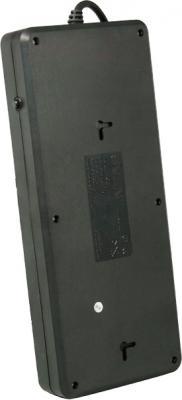 Сетевой фильтр Sven Surge Protector Fort 5.0 (черный, 5 розеток) - вид сзади