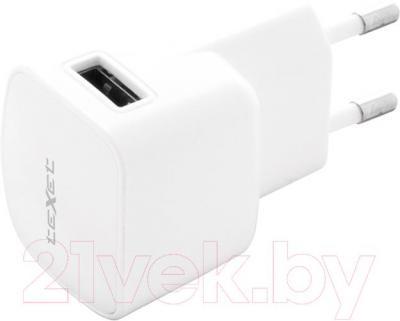 Автомобильное зарядное устройство TeXet PowerUno TCS-1102 (белый) - сетевое зарядное устройство
