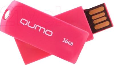 Usb flash накопитель Qumo Twist 16Gb (Cerise) - общий вид