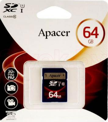 Карта памяти Apacer SDXC UHS-I (Class 10) 64GB (AP64GSDXC10U1-R) - общий вид