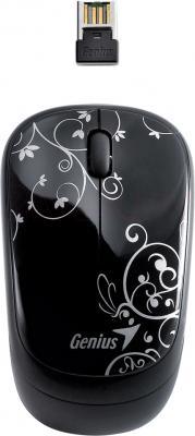 Мышь Genius Traveler 6000 (Black with special print) - общий вид