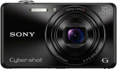 Компактный фотоаппарат Sony Cyber-shot DSC-WX220 - вид спереди