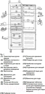 Холодильник с морозильником Liebherr CNPbs 4013