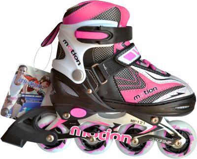 Роликовые коньки Motion Partner MP121S (S, розовый) - общий вид