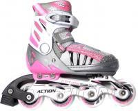 Роликовые коньки Action PW-132-A (L, Pink) -