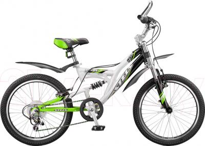 Велосипед Stels Pilot 250 (Black-White-Green) - общий вид