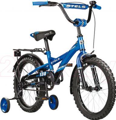 Детский велосипед Stels Pilot 130 (18, Blue-Black) - общий вид