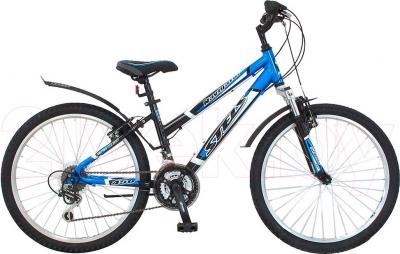 Велосипед Stels Navigator 450 (Black-Blue) - общий вид