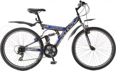 Велосипед Stels Focus 21 СК (Black-Gray-Blue) - общий вид