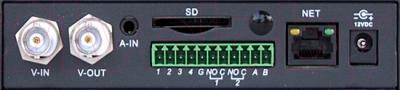Видеосервер RVi IPS4100A - вид сзади