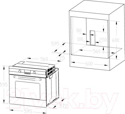 Электрический духовой шкаф Zigmund & Shtain EN 162.921 B