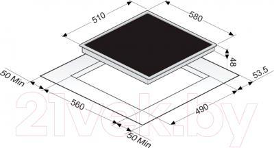 Электрическая варочная панель Zigmund & Shtain CNS 95.6 DX