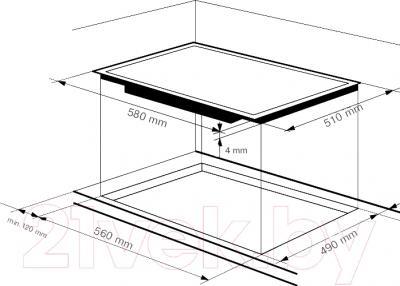 Индукционная варочная панель Zigmund Shtain CIS 179.60 BX