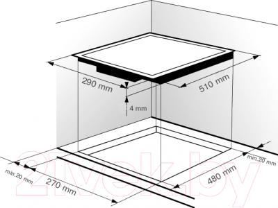 Электрическая варочная панель Zigmund & Shtain CNS 129.30 BX