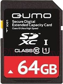 Карта памяти Qumo SDXC (Class 10) 64GB (QM64GSDXC10) - общий вид