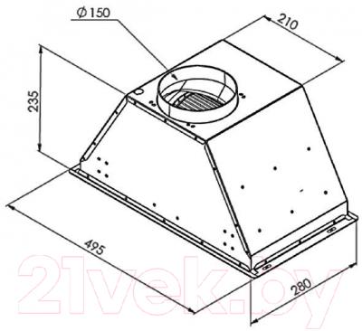 Вытяжка скрытая Zigmund & Shtain K 003.51 W