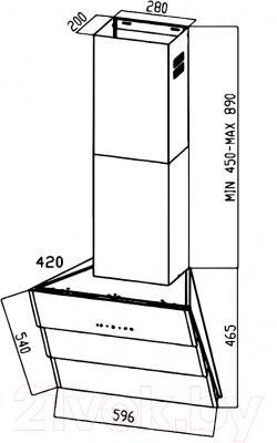 Вытяжка декоративная Zigmund & Shtain K 219.61 W