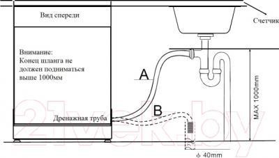 Посудомоечная машина Zigmund & Shtain DW 59.6006 X - схемы установки