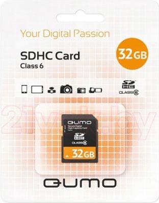 Карта памяти Qumo SDHC (Class 6) 32GB (QM32GSDHC6) - общий вид
