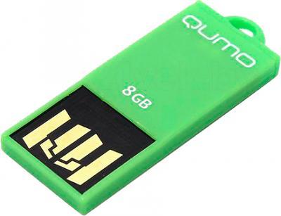 Usb flash накопитель Qumo Sticker 8Gb (Green) - общий вид