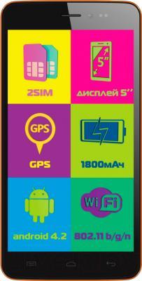 Смартфон Explay Rio (оранжевый) - общий вид