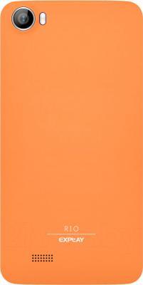Смартфон Explay Rio (оранжевый) - вид сзади