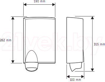 Сушилка для рук Valera 831.01 - габаритные размеры