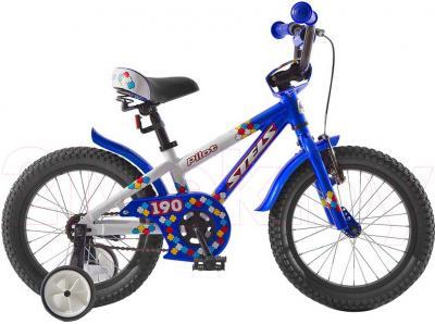 Детский велосипед Stels Pilot 190 (18, Blue-White) - общий вид