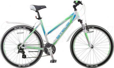 Велосипед Stels Miss 6500 (White-Green) - общий вид